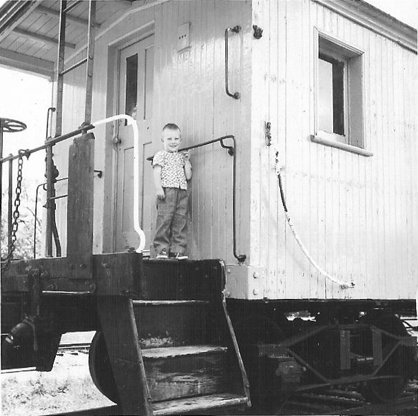 Steve on caboose � Steven P. Wickstrom